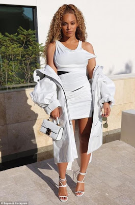 Beyonce parades jaw-dropping figure in tight white dress sported to basketball date night with Jay-Z