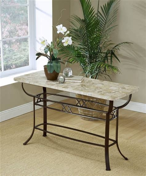 hillsdale brookside wrought iron sofa table  fossil