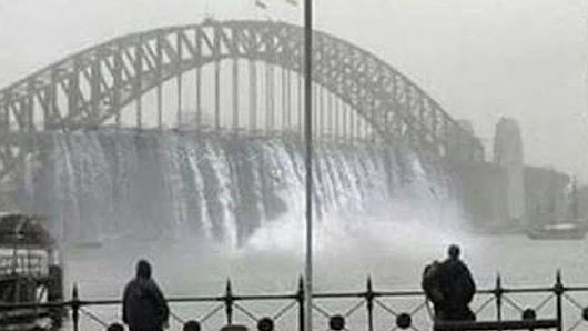 Photoshopped pictures of the Sydney storm have confused social media users