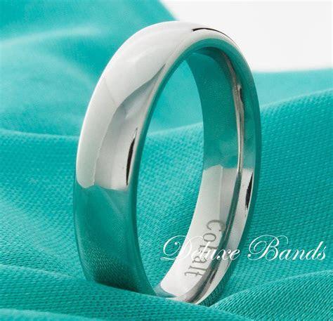 Domed Cobalt Chrome Wedding Band,Polished,Cobalt