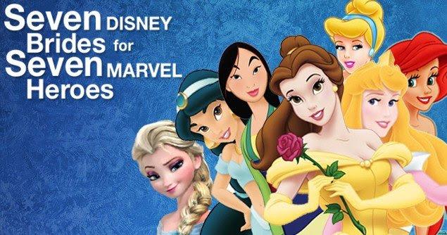 What If Disney Princesses Married Marvel Heroes?