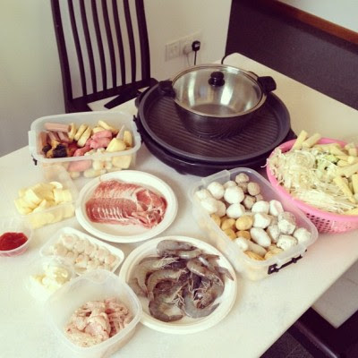 Woohoo! Steamboat dinner with the family! :D #homemade  (Taken with Instagram)