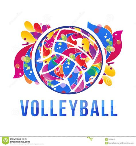 vector volleyball logo stock vector stock vector image