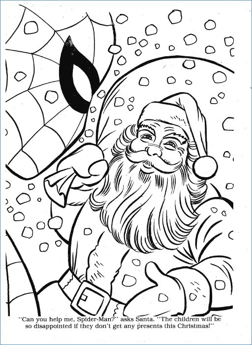 Spiderman Christmas Coloring Pages : spiderman, christmas, coloring, pages, Spiderman, Christmas, Coloring, Pages