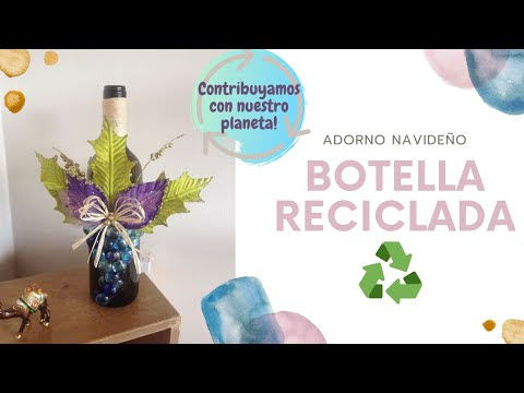 BOTELLA DE VIDRIO DECORADA ILUMINADA - WINE BOTTLE CRAFTS