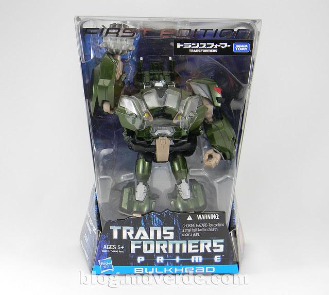 Transformers Bulkhead - Prime First Edition Takara - caja