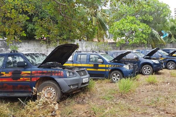 Veículos leiloados no certame são dos estados da Paraíba, Ceará e Rio Grande do Norte