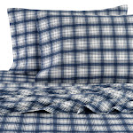 Pendleton Flannel Plaid 4-Piece Sheet Set, Queen, Blue