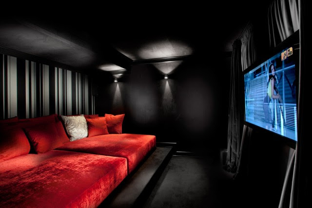 media room - contemporary - media room - other metro - by Elad ...