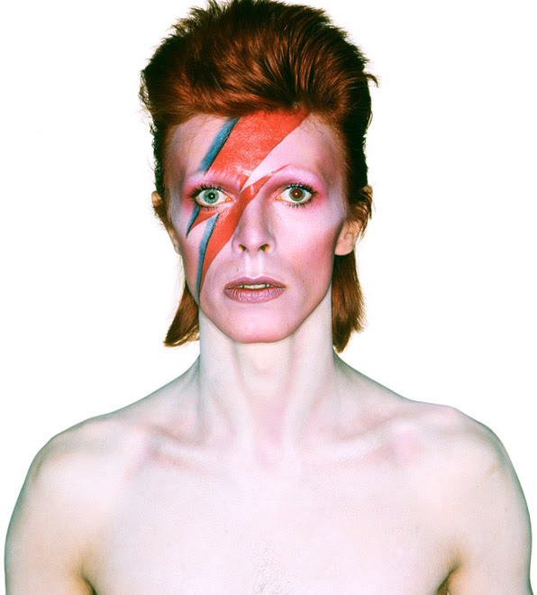 Album cover shoot for Aladdin Sane