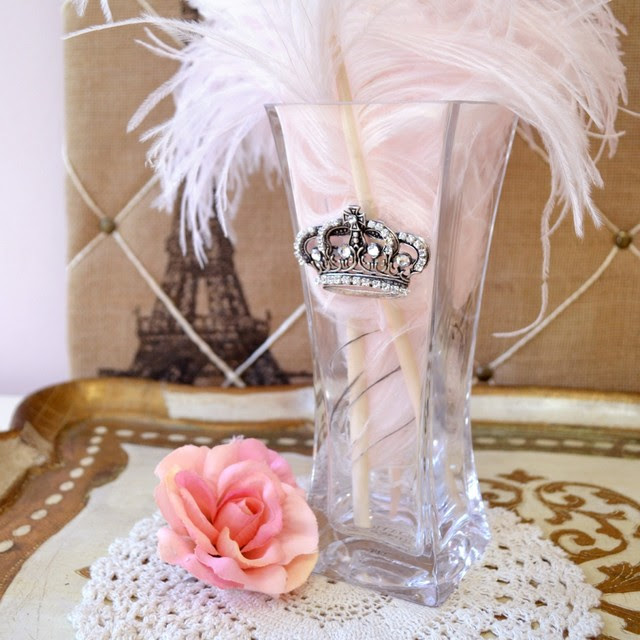 Lux Luscious Silver Crown Vanity Collection Vase ...