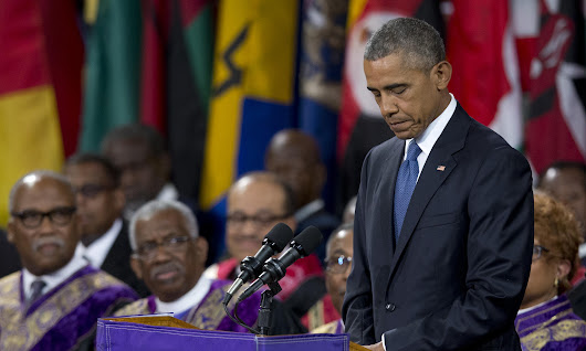 Obama speaks at Clementa Pinckney funeral – read the eulogy in full | US news | The Guardian