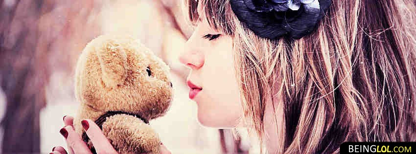 Cute Teddy Bear And Girl Best Facebook Cover Cute Teddy Bear And
