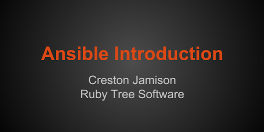 Ansible Introduction | Ruby Tree Software
