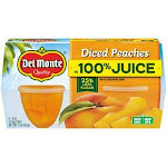 Del Monte Garden Quality Diced Peaches In Light Syrup (4 Ounce, Pack Of 6)