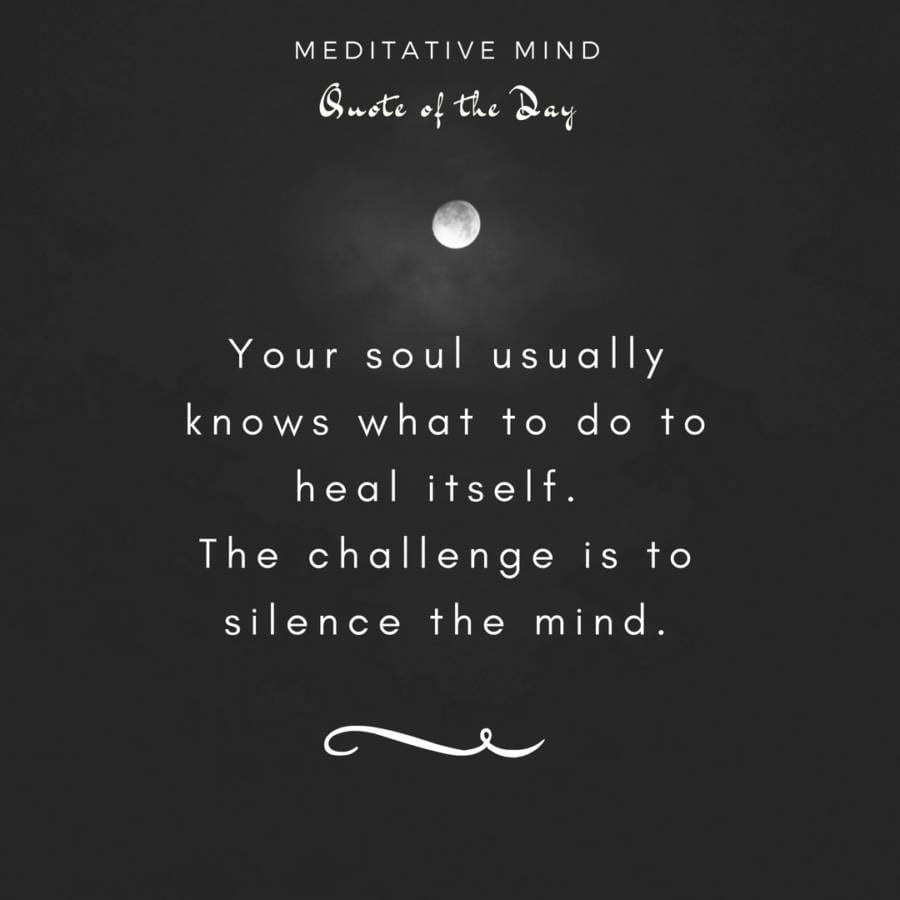 Your Soul Usually Knows What To Do To Heal Itself The Challenge Is