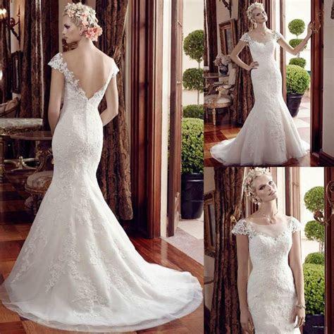 New Arrival Mermaid Wedding Dresses Lace Applique 2016