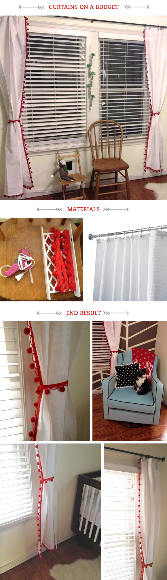nursery: diy curtains | amalia misc.