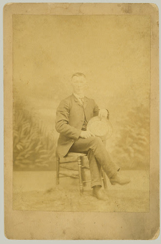 Cabinet Card man with hat