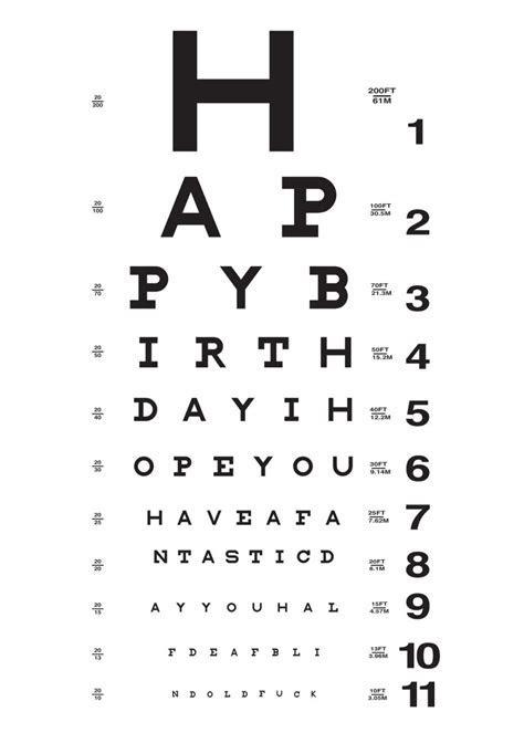 Eye Chart (00424R)   Vash Designs