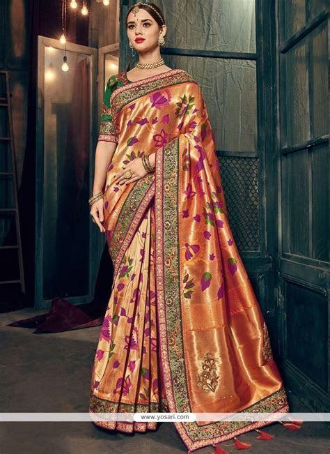 Buy Multi Colour Resham Work Designer Traditional Saree