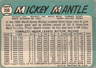 #350 Mickey Mantle (back)
