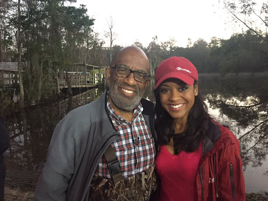 "Kelsey Davis on Twitter: "".@alroker & I between weather forecasts at Honey Island Swamp in Slidell #Rokerthon @wdsu @TODAYshow """