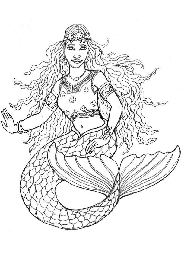 100+ Free Adult Coloring Pages | Mermaid coloring pages, Mermaid ... | 875x600