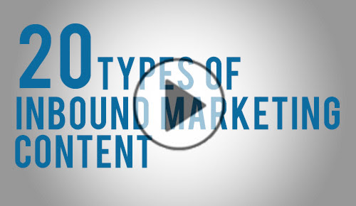 20 Types of Inbound Marketing Content You Can Create Right Now – Video