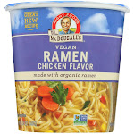 Dr. McDougall's Vegan Ramen Soup Big Cup with Noodles - Chicken - 1.8 Ounce - PACK OF 12