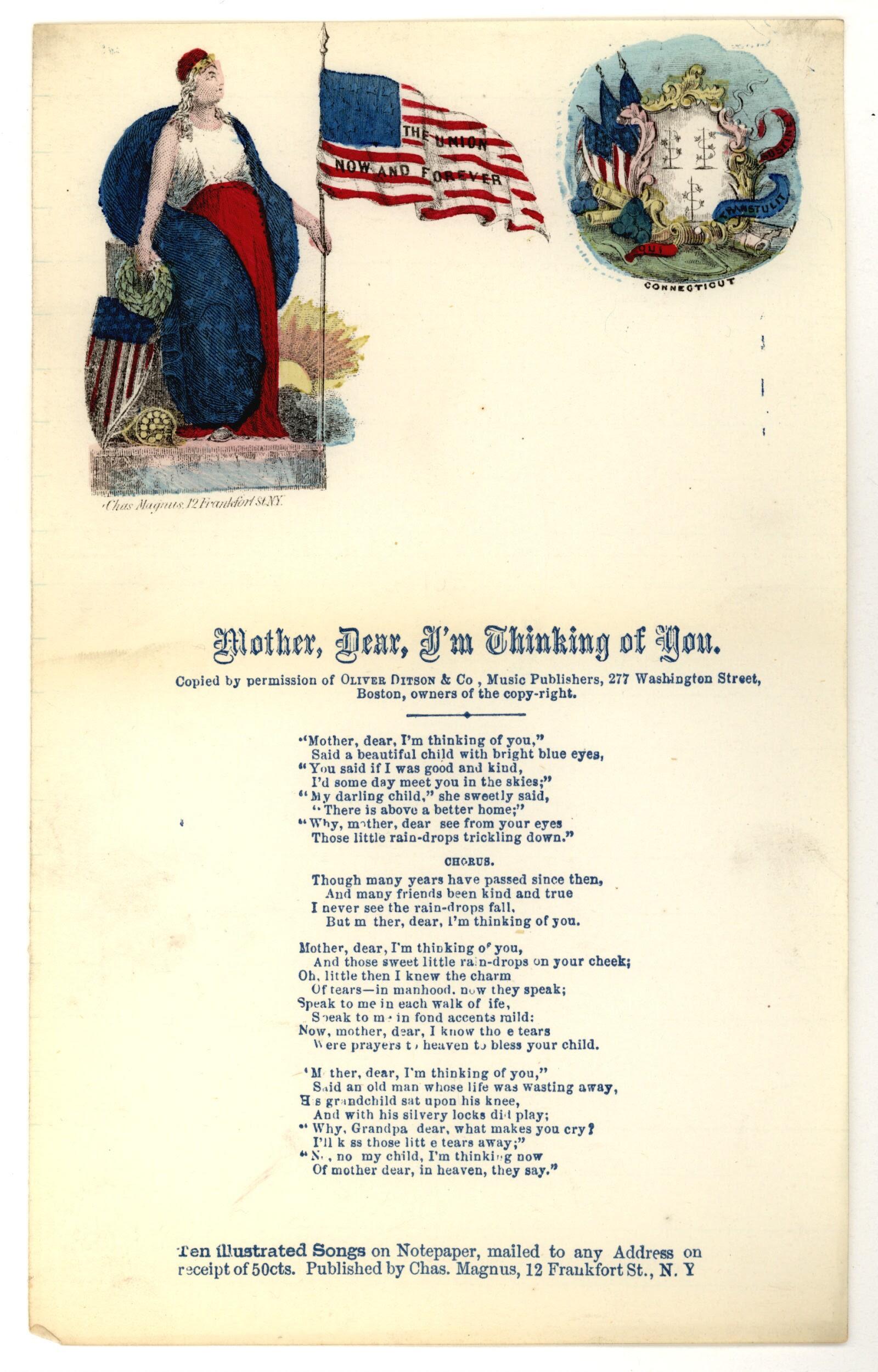 America Singing Nineteenth Century Song Sheets Bookprinted