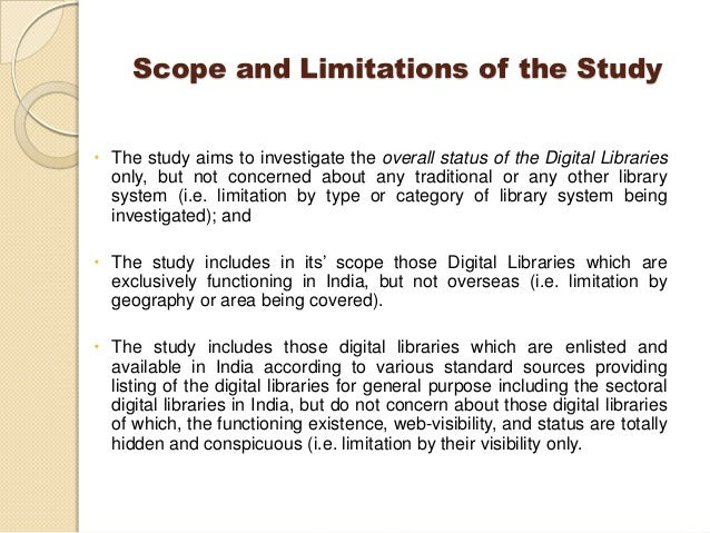 scope and delimitation of study habits thesis