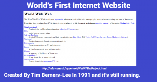 what is the first website on the internet, internet history, internet facts, the first website, world's first website, internet historical facts, billion internet facts