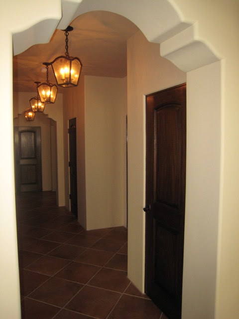 Shaped Arch Hallway - Mediterranean - Hall - los angeles ...