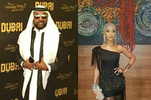 [Photos] Latest Celebrity Couples, BankyW & Adesua Etomi step out in style for the Arabian themed premiere of 'The Wedding Party 2'