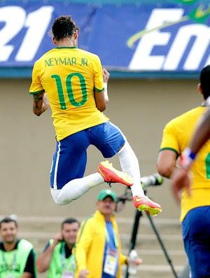 Neymar comemora gol amistoso Brasil x Panamá (Foto: Wander Roberto / VIPCOMM)