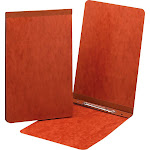 """Smead Pressguard Report Covers with Fastener, Red, 5.5"""" x 8.5"""""""