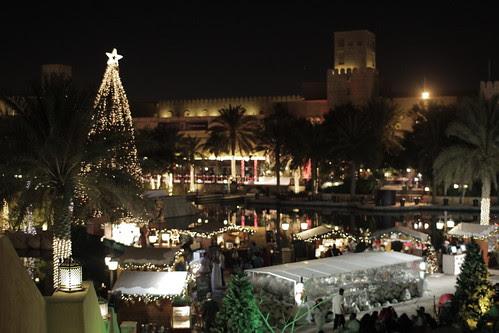 The Jumeirah area at night