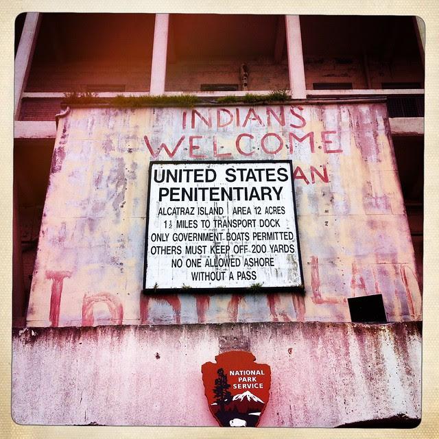 Alcatraz - Indians welcome