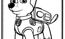 Paw Patrol Chase Köpek Boyama Sayfası