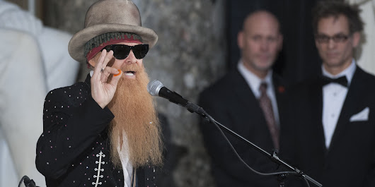 ZZ Top's Billy Gibbons Plays Capitol Hill Unveiling Of Vaclav Havel Bust