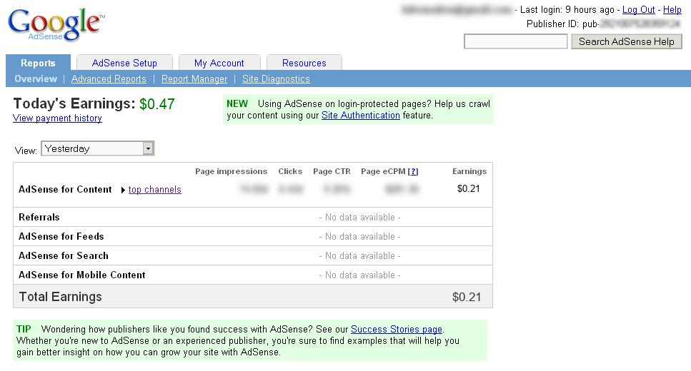 """Cara """"Mendapat"""" $100 per hari dari Google AdSense"""