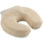 "SensorPEDIC Touch Round Memory Foam Neck Pillow 11"" x 10"" Beige"
