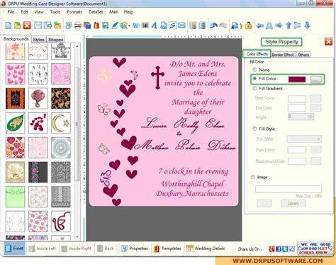 DRPU Wedding Card Designer software design marriage