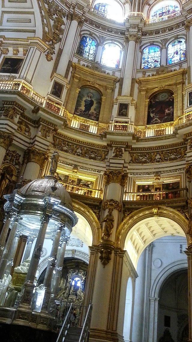 Catedral de Granada - Capilla Mayor - Detalle del altar mayor.jpg