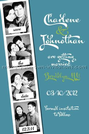 Customized PhotoBooth Save the Dates Card