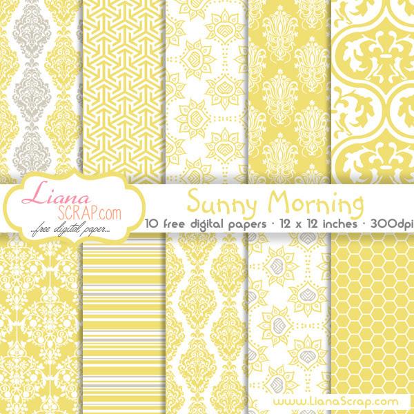 Free digital paper pack – Sunny Morning Set