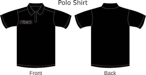 black polo clip art  clkercom vector clip art