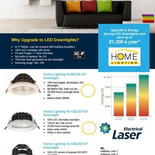 Let Laser save you money with Home Lighting LED fittings by LaserGroupNZ