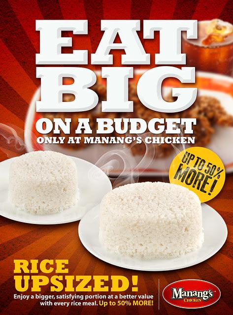 Bigger Rice at Manang's Chicken